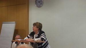 Barbara Müller-Grant, die ganz ohne PowerPoint-Präsentation auskam