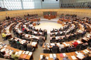 Plenarsaal des NRW-Landtags in Düsseldorf